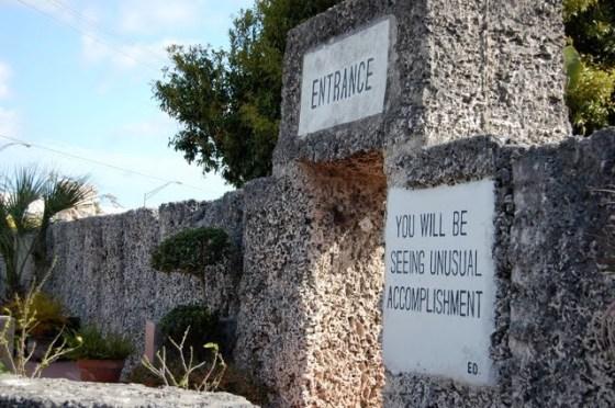 Coral Castle entrance