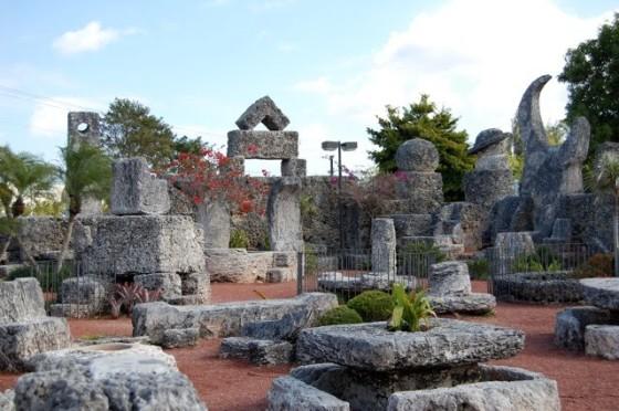inside the castle/garden