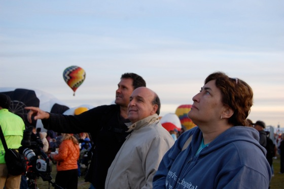 watching the balloons take off