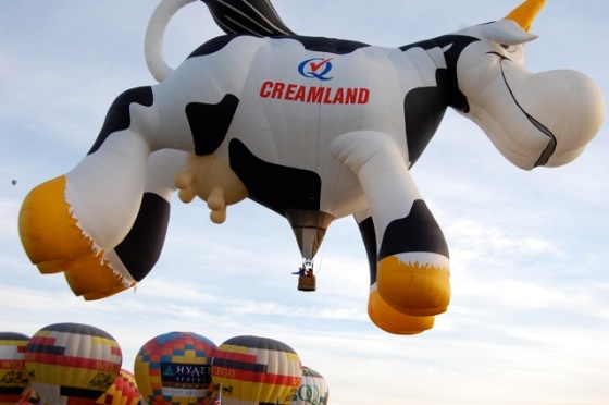 a cow balloon... kids love the different balloon characters