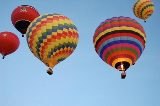 balloons over New Mexico