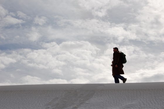walking the hills of White Sands