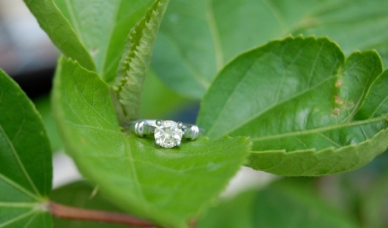 Unheated, Untreated, White Sapphire Ring