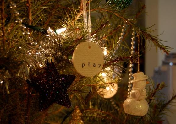 salt dough Christmas tree ornament