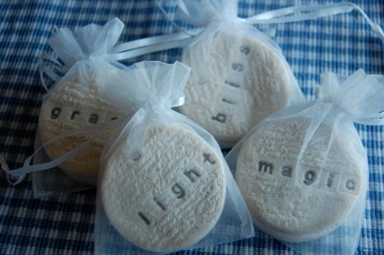 Salt dough wedding favors