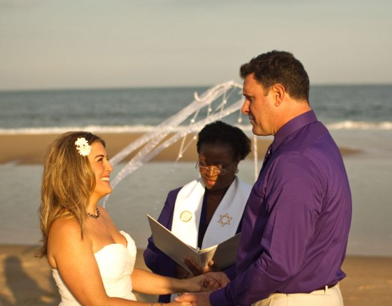vows on beach