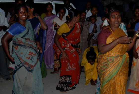 women of the village In South India, who so graciously fed and hosted us