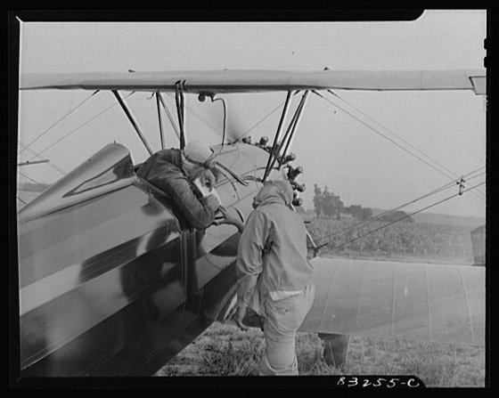 the government has been promoting pesticides for a long time... Pilots Study Map of Fields June 1942Farm Security Administration - Office of War Information Photograph Collection (Library of Congress) Collier, John, photographer.