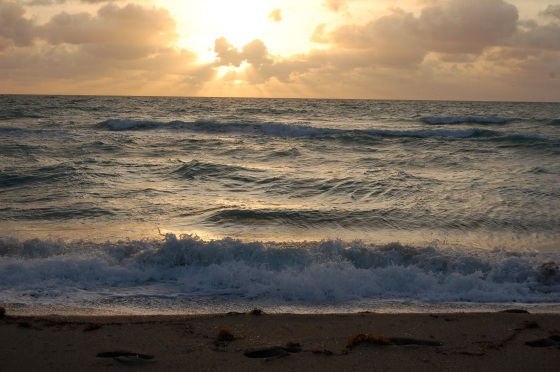 sunrise on Hollywood Beach Florida