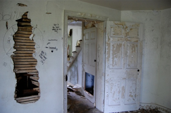 inside the abandoned house