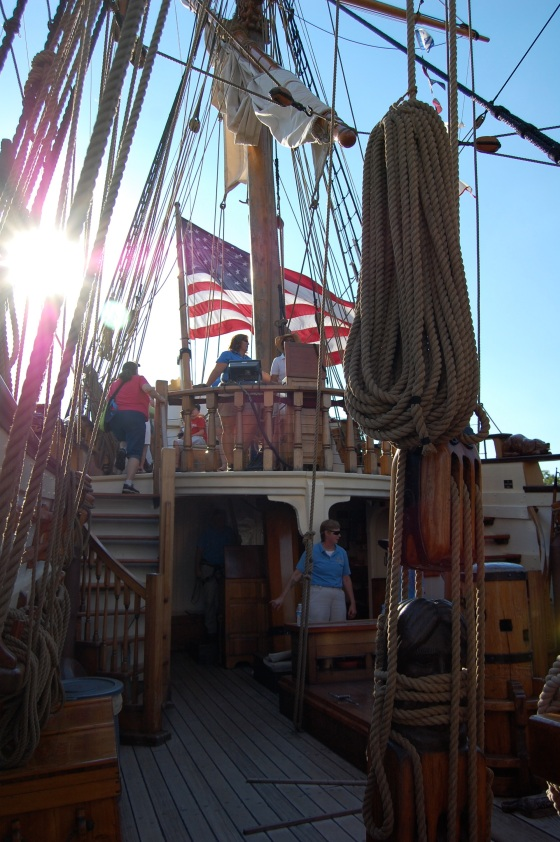 the upper level of the boat