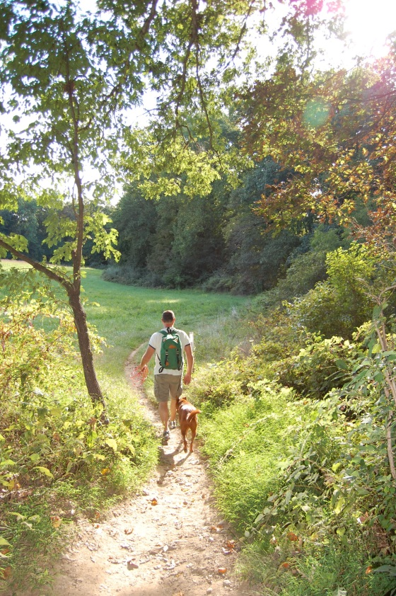 walking the trails in late summer
