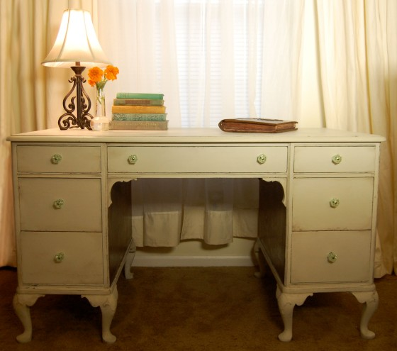 milk paint desk makeover