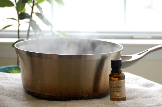 steam and camphor oil