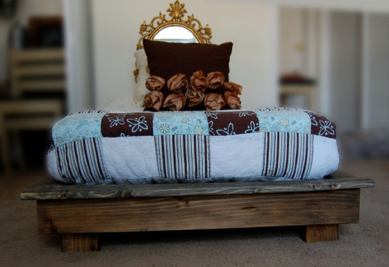 platform bed for a crib mattress