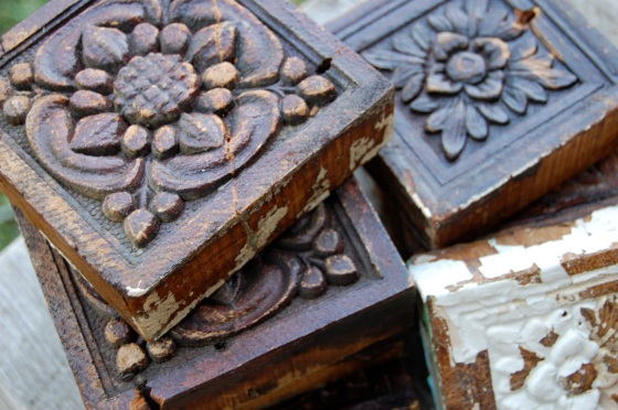salvaged flower door frame decorations