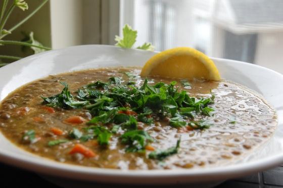 a Moroccan style lentil soup